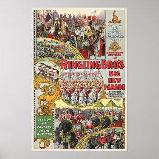 Ringling Bros Circus - Circa 1899 Poster