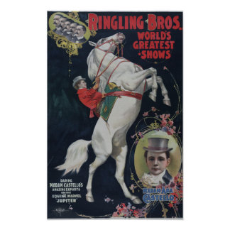 Ringling Bros Circus colorful vintage poster