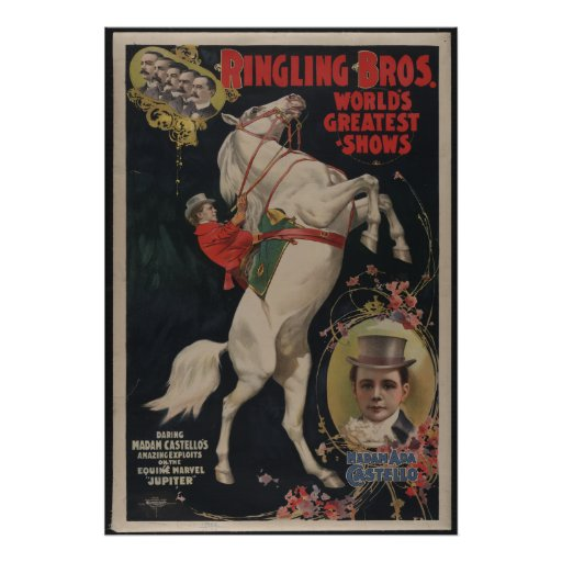 Ringling Bros Circus Vintage Poster