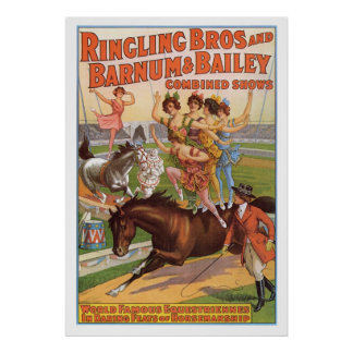 Ringling Bros. Equestriennes  Advertisement 1910's Print