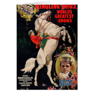 Ringling Bros. World's Greatest Shows Note Card