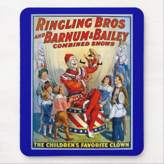 Ringling Brothers & Barnum & Bailey Vintage Clown Mouse Mat