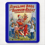 Ringling Brothers & Barnum & Bailey Vintage Clown Mouse Pads