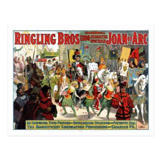 Ringling Brothers Circus Joan of Arc Spectacular Postcard
