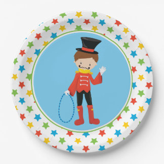 Ringmaster   Circus Theme 9 Inch Paper Plate