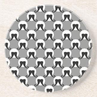 Ringmaster Mustache Polka Dots Coaster