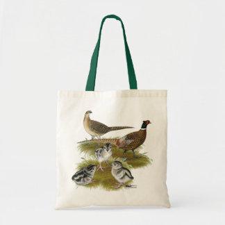 Ringneck Pheasant Family Tote Bag