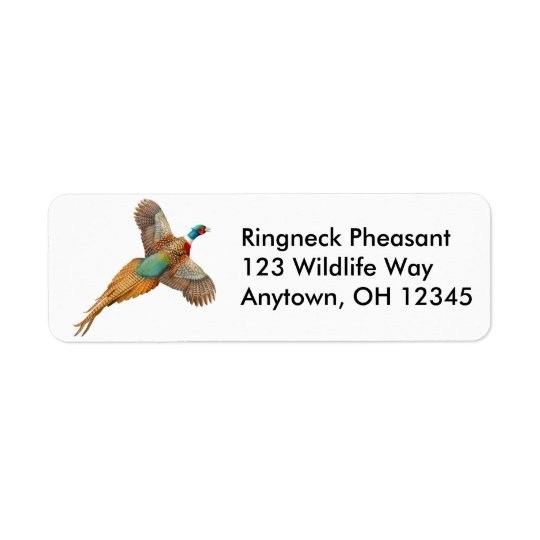 Ringneck Pheasant Label Return Address Label