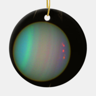 Rings and Moons Circling Uranus Christmas Ornament