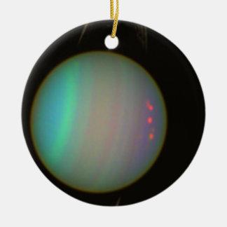Rings and Moons Circling Uranus Christmas Ornament