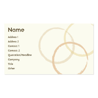 Rings - Business Pack Of Standard Business Cards