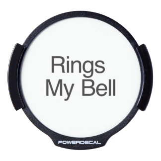 Rings My Bell LED Car Window Decal