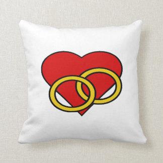 Rings Of Love - Throw Pillow Throw Cushions