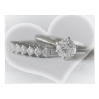 Rings with Heart Postcard