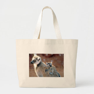 Ringtail Lemur And Baby Jumbo Tote Bag