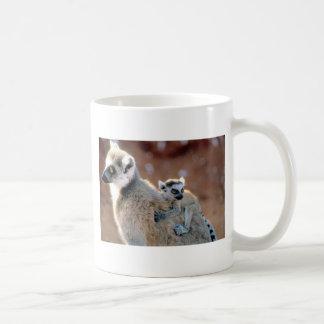 Ringtail Lemur And Baby Coffee Mugs