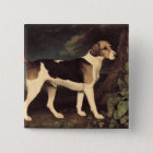 Ringwood, a Brocklesby Foxhound, 1792 15 Cm Square Badge