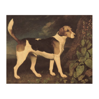 Ringwood, a Brocklesby Foxhound, 1792 Wood Canvas