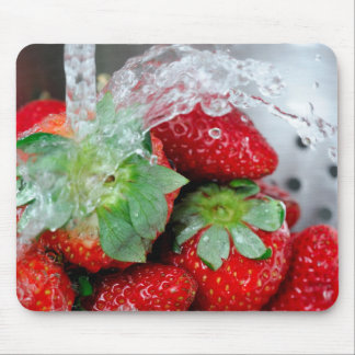 Rinsing Strawberry With Water Mouse Mat
