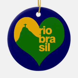 rio 2014 brasil round ceramic decoration
