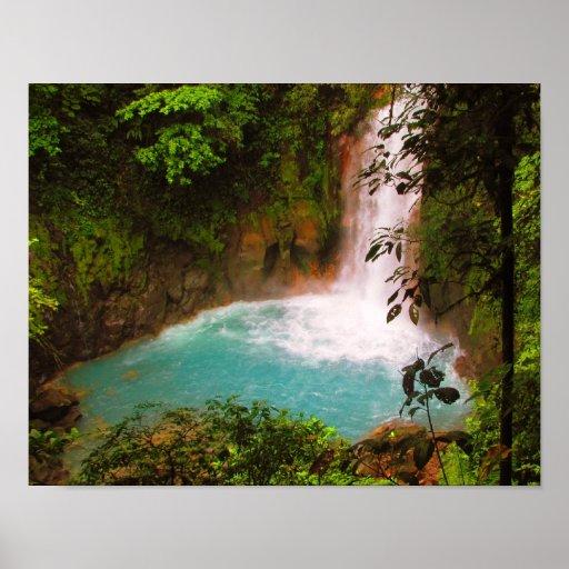 Rio Celeste Waterfall, Costa Rica Poster