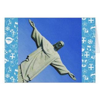 rio christmas blue greeting card