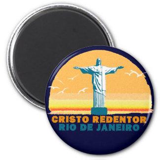 Rio - Corcovado - Jesus Christ the Redeemer 6 Cm Round Magnet