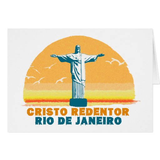 Rio - Corcovado - Jesus Christ the Redeemer Greeting Cards