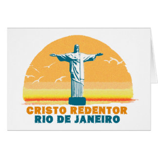 Rio - Corcovado - Jesus Christ the Redeemer Greeting Card