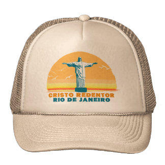 Rio - Corcovado - Jesus Christ the Redeemer Mesh Hat