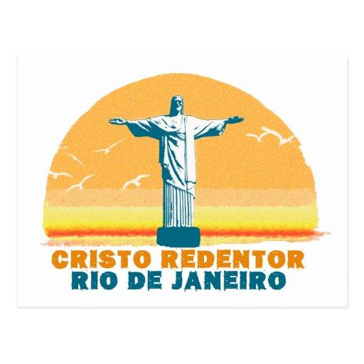Rio - Corcovado - Jesus Christ the Redeemer Postcards