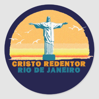 Rio - Corcovado - Jesus Christ the Redeemer Round Sticker