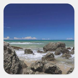 Rio Da Barra Beach   Trancoso, Bahia State, Square Sticker