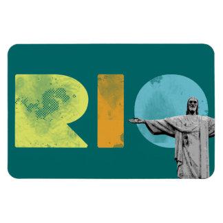 rio de janeiro and cristo redentor magnet