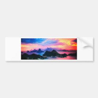Rio de Janeiro at dusk Bumper Sticker