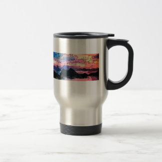 Rio de Janeiro at dusk drawing Stainless Steel Travel Mug
