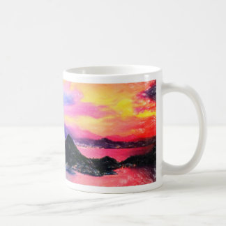 Rio de Janeiro at dusk pastel Basic White Mug