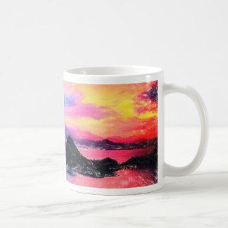 Rio de Janeiro at dusk pastel Mug