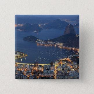Rio de Janeiro, Brazil 15 Cm Square Badge