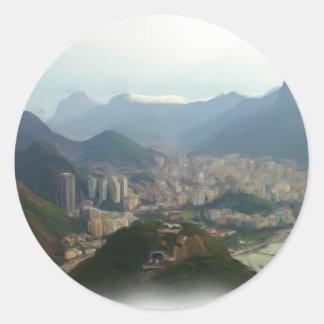 Rio de Janeiro - Brazil Classic Round Sticker