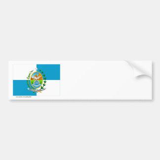 Rio de Janeiro, Brazil Flag Bumper Sticker