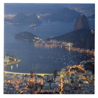 Rio de Janeiro, Brazil Large Square Tile