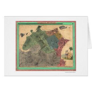 Rio De Janeiro Brazil Map 1831 Card