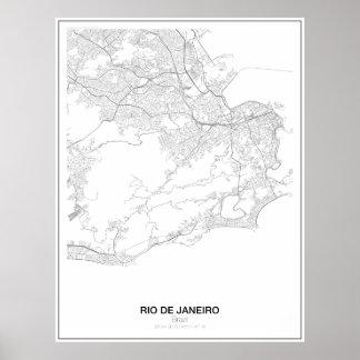 Rio de Janeiro, Brazil, Minimalist Map Poster s.2