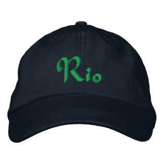 Rio De Janeiro, Brazil Personalized Adjustable Hat Embroidered Hat