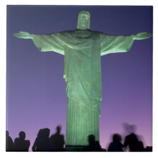 Rio de Janeiro, Brazil. the Christ Statue on Tile