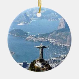 Rio de Janeiro Cristo Statue Christmas Ornament