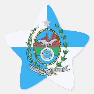 Rio de Janeiro flag Star Sticker