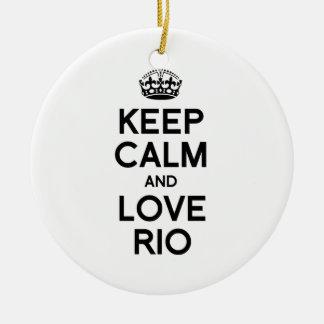 RIO DE JANEIRO KEEP CALM -.png Christmas Ornament