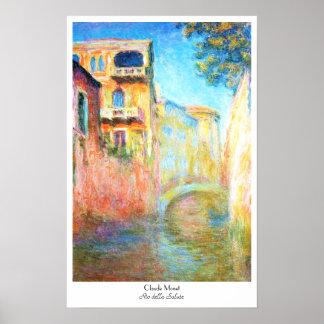 Rio della Salute  Claude Monet Poster